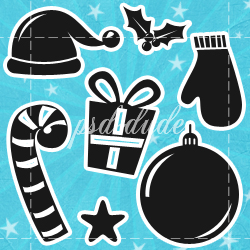 Christmas Free Vector Shapes psd-dude.com Resources