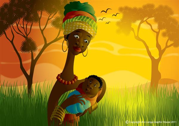 African Mommy by ud120182 photoshop resource collected by psd-dude.com from deviantart