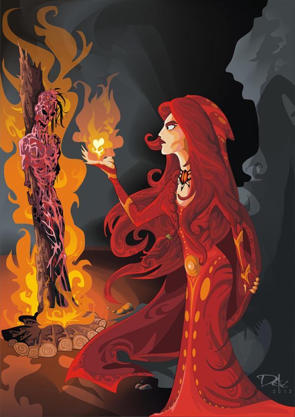 Melisandre of Asshai by dejan-delic photoshop resource collected by psd-dude.com from deviantart