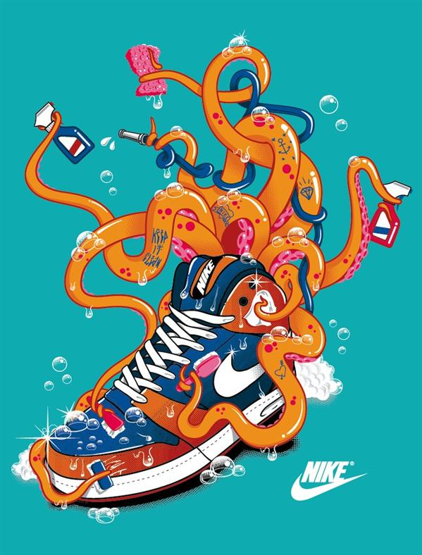 Nike Tshirt Octopus by TokyoCandies photoshop resource collected by psd-dude.com from deviantart