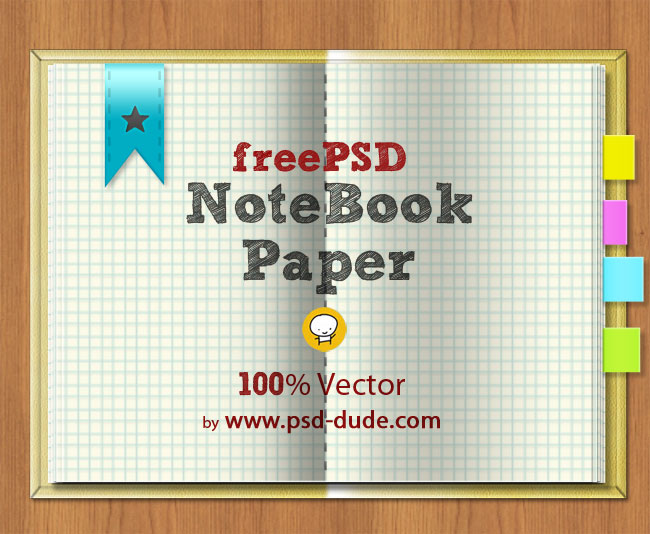 free vector notebook psd