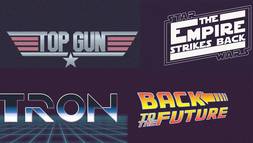 80s Font Text Effects