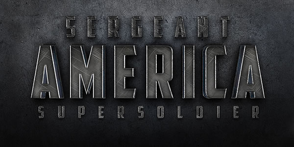 Create a Cinematic Sergeant America Text Effect in Photoshop