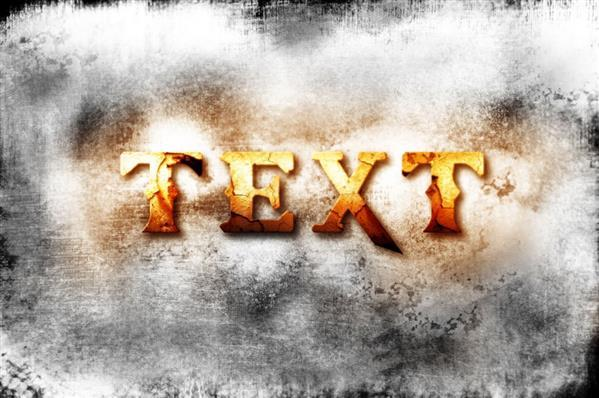 God of war iii inspired cracked text effect in Photoshop