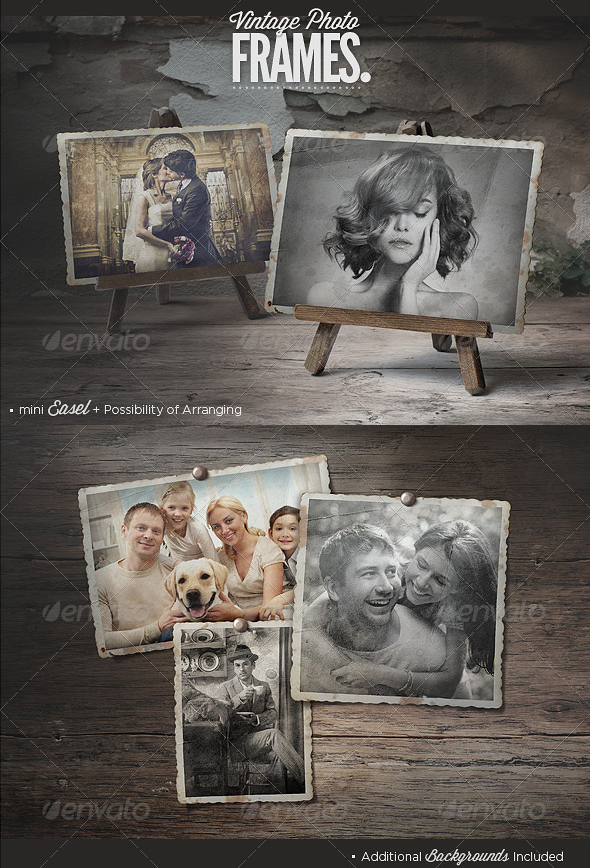 Vintage Photo Frame Photoshop Mockup