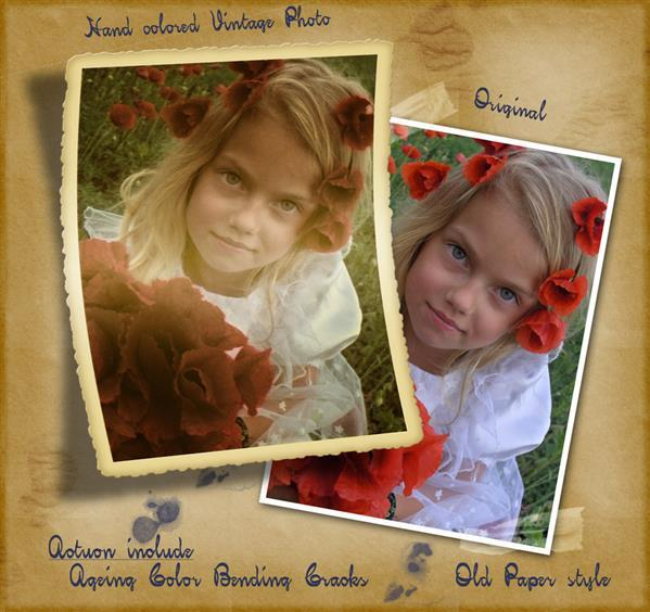 Create Vintage Photo Frame Effect with Photoshop Action