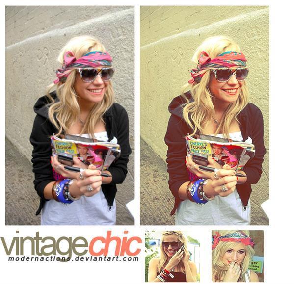 Vintage Chic Look PS Action