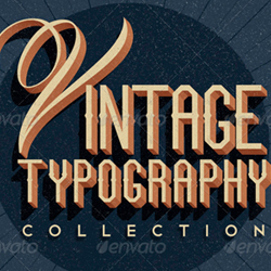 Retro Vintage Typography Photoshop Style Collection psd-dude.com Resources