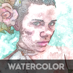 Watercolor Photoshop Free Action psd-dude.com Resources