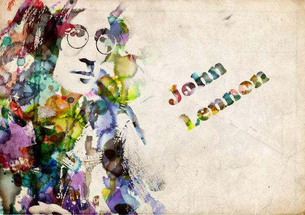 John Lennon water by lost-winterborn photoshop resource collected by psd-dude.com from deviantart
