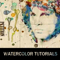 16 <span class='searchHighlight'>Watercolor</span> Photoshop Tutorials psd-dude.com Resources