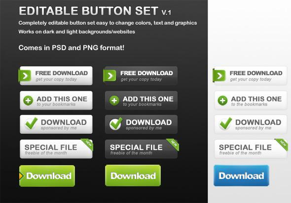 Web Buttons With Free PSD File Download | PSDDude