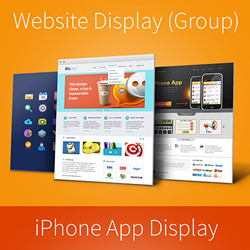 Web Page and App Screen Display PSD Mockups psd-dude.com Resources