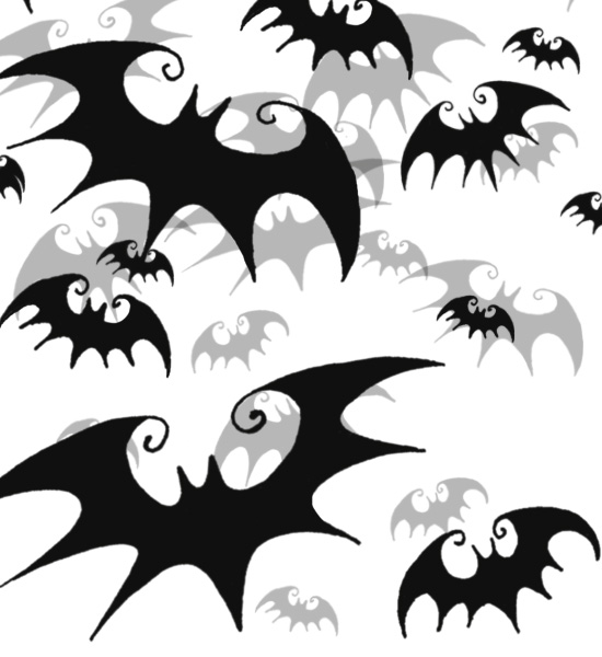 Tim Burton Style Bats Photoshop Brushes