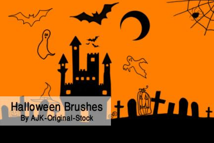Halloween Simple Brush Pack For Photoshop