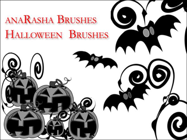 Halloween Brushes For Photoshop: Bats And Pumpkins