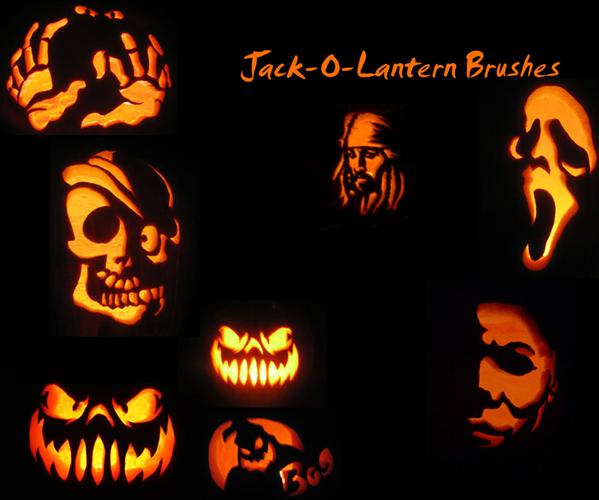 Halloween Jack o Lantern Brushes For Photoshop