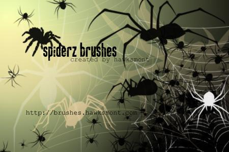 Halloween Spider Brushes For Photoshop