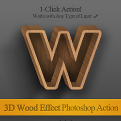3D <span class='searchHighlight'>Wood</span> Text Photoshop Free Action psd-dude.com Resources