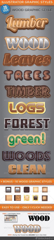 Wood Illustrator Graphic Styles