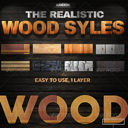 Wood Photoshop Styles and Actions psd-dude.com Resources