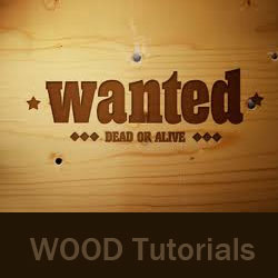 Wood Text Photoshop Tutorials psd-dude.com Resources