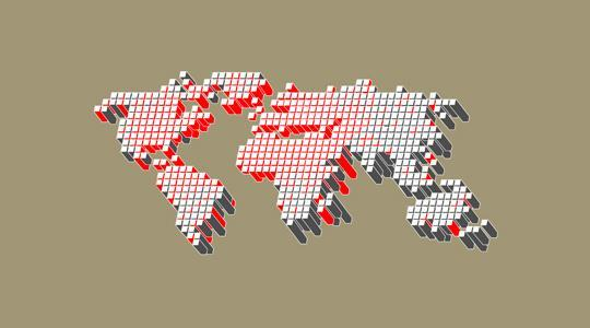 World map psd and eps ai vector free download psddude 3d pixel world map download gumiabroncs Gallery