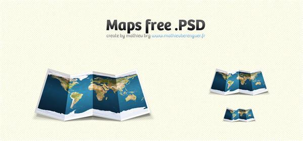 Fold Paper Map free PSD