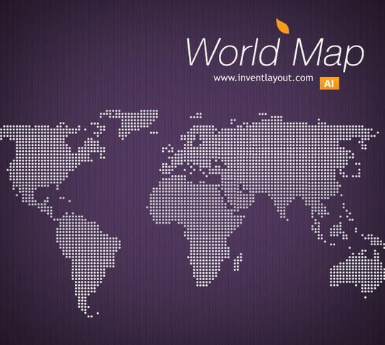 World map psd and eps ai vector free download psddude world map vector ai format gumiabroncs Image collections