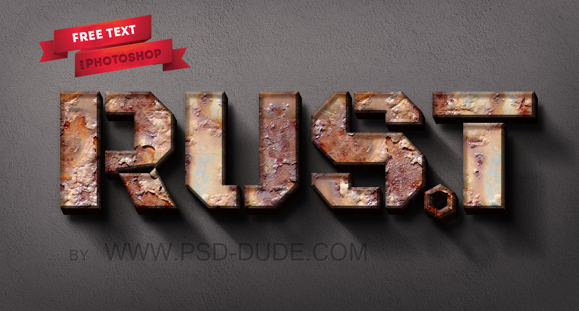 Rusty Metal Text Style Photoshop Tutorial - Photoshop