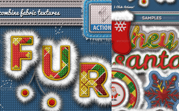 knitted fur photoshop text effect creator