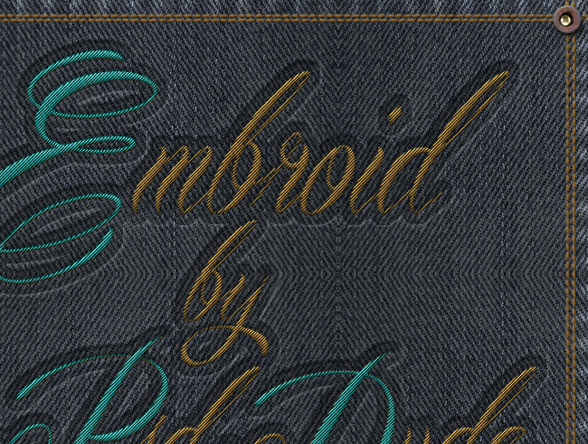 Sewing Embroidery Effect In Photoshop  Galih Gasendra