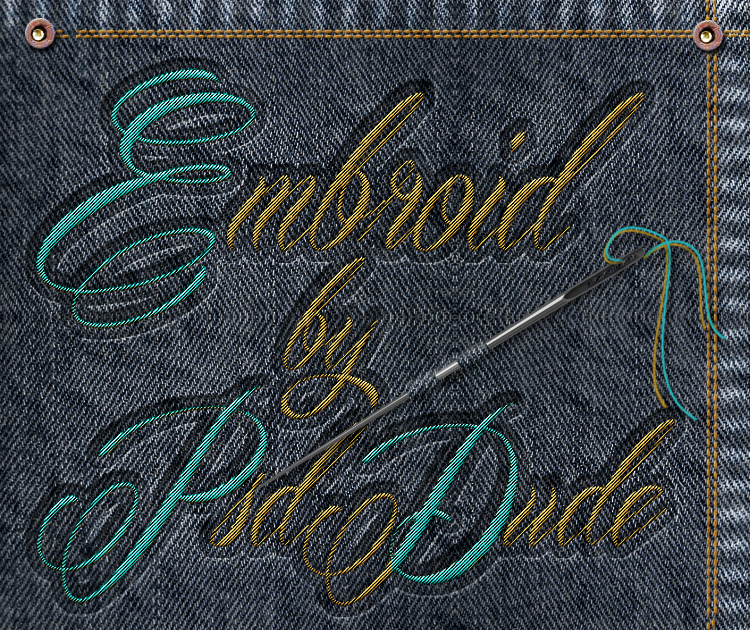 Embroidery Effect Photoshop