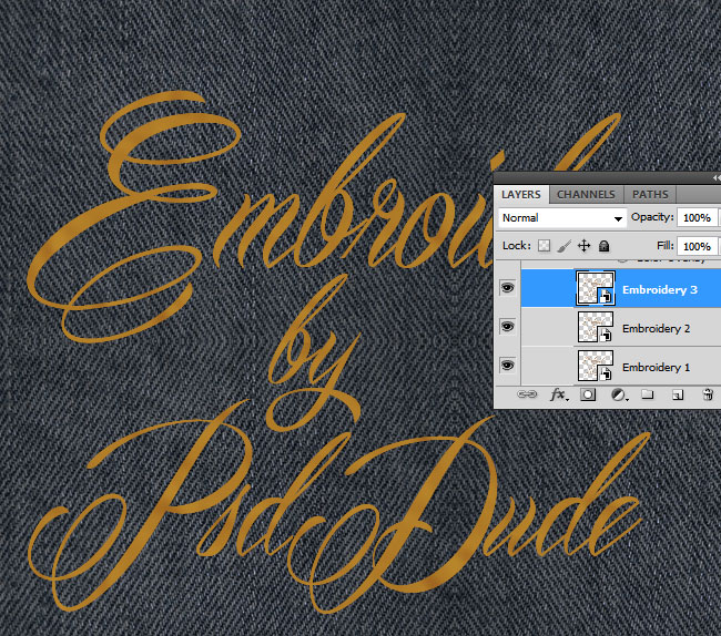 Sewing Embroidery Effect In Photoshop  Photoshop Tutorial