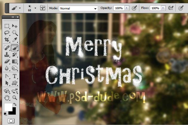 Snow Spray Paint Effect in Photoshop - Photoshop tutorial | PSDDude
