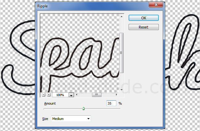 how to distort add specs to text photoshop