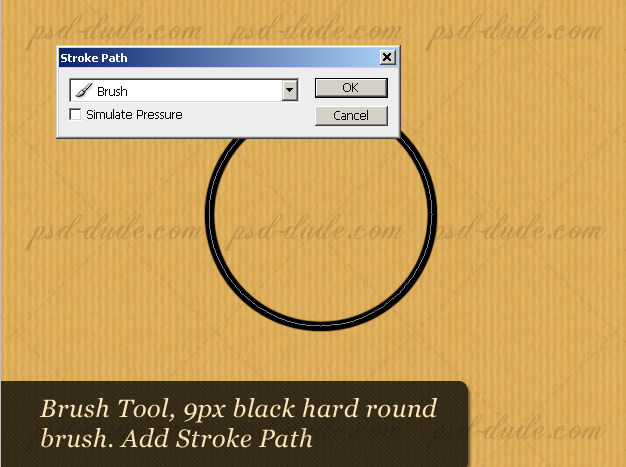 Stroke Path to Make a Circle in Photoshop