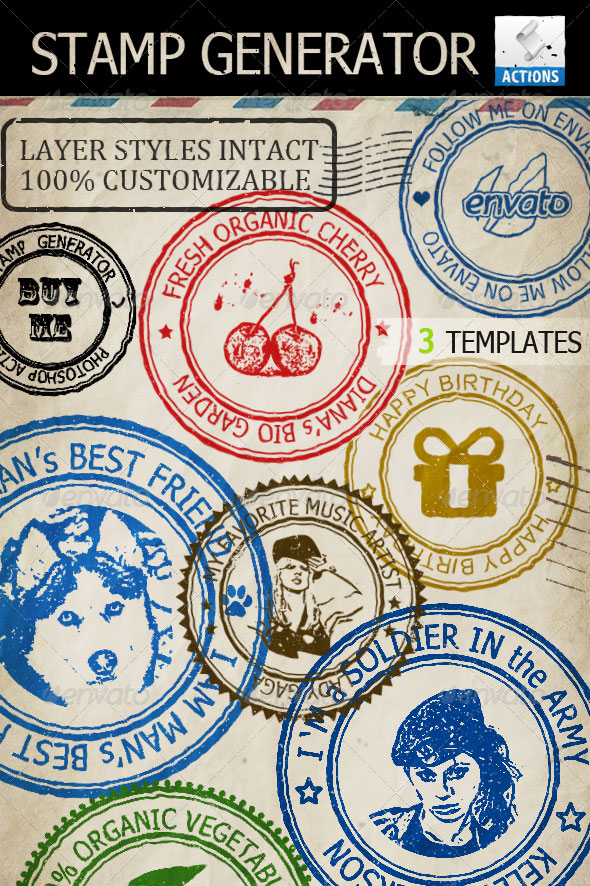 Stamp PSD Free Download