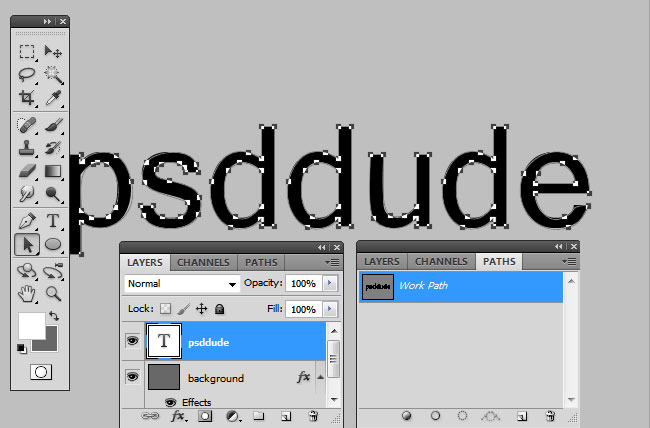 Photoshop Path From Text