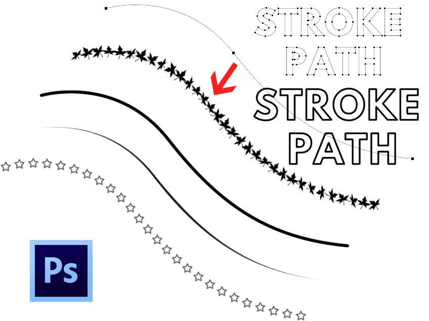 Stroke path in Photoshop
