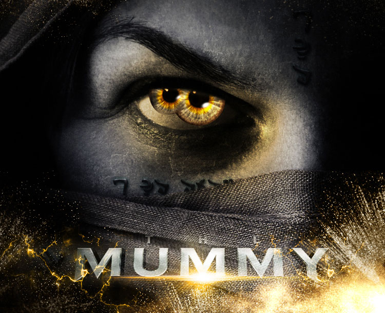 create the mummy movie poster in Photoshop