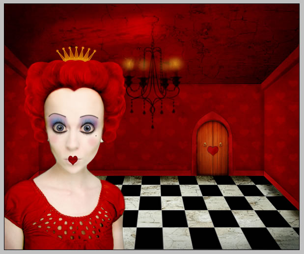 Red Queen Caricature Photo Photoshop Tutorial