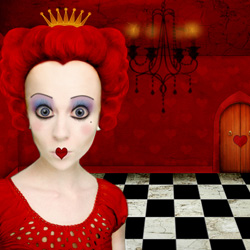 The Red Queen of Hearts from Alice in Wonderland