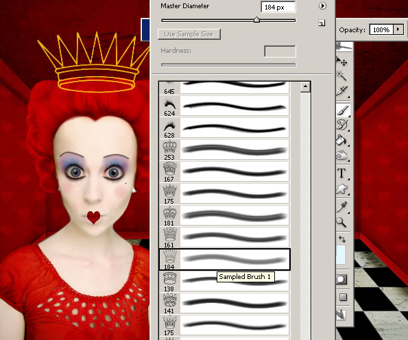 the-red-queen-of-hearts-from-alice-in-wonderland tutorial intermediary image