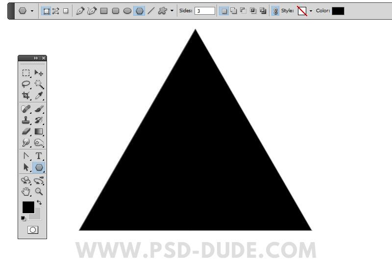 正三角形のPhotoshop