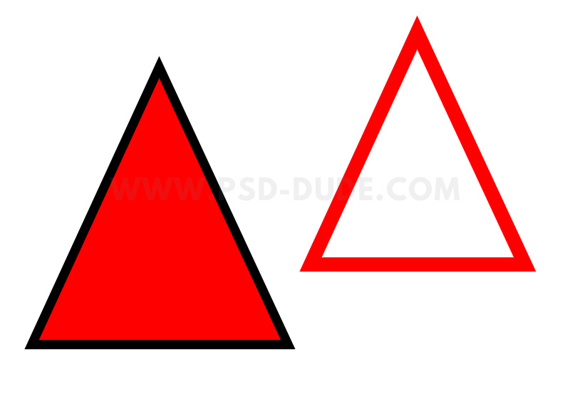 How To Make A Triangle Outline In Photoshop