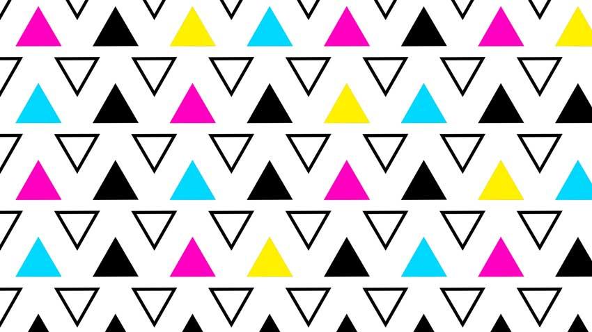 色付きのPhotoshop三角形パターン