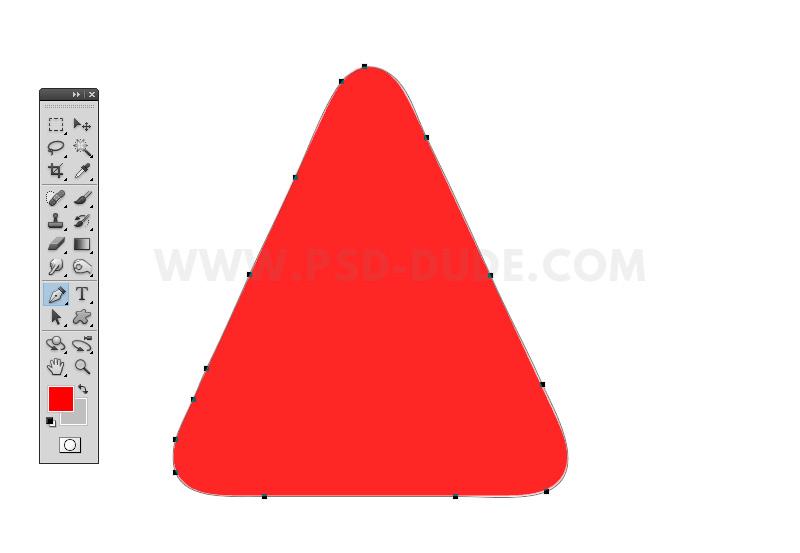 角丸三角形のPhotoshop