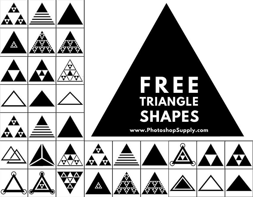 三角形のPhotoshopの形状
