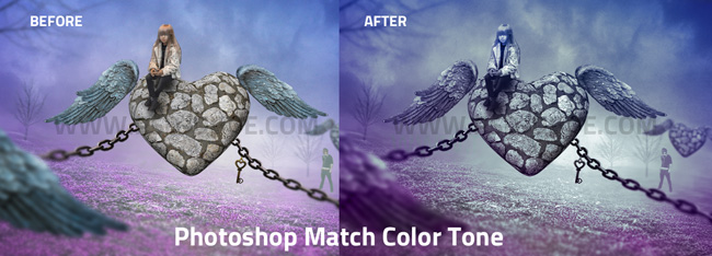 match color tone in photoshop